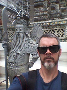 Me at Wat Arun in Bangkok.
