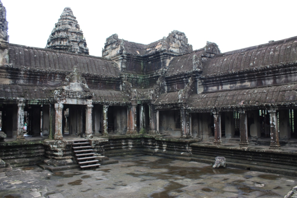 One of the courtyards of the main temple building