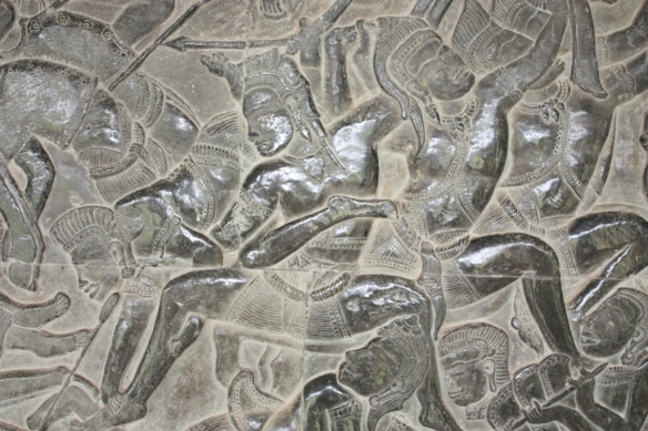This is part of a massive bas relief  battle scene