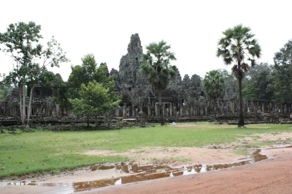 The site is circled by the road through Angkor Thom.