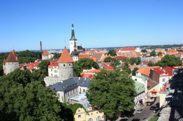 Looking over the old town toward the Gulf of Finland