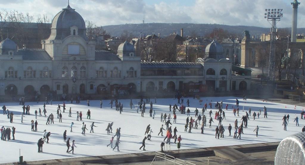 City Ice Rink next to the Vajdahunyad Castle