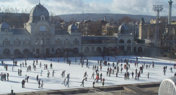 City Ice Rink next to the Vajdahunyad Castle