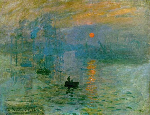 Impression: Sunrise by Claude Monet, 1872