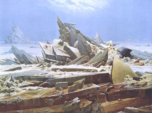 The Sea of Ice by Caspar David Friedrich, 1823
