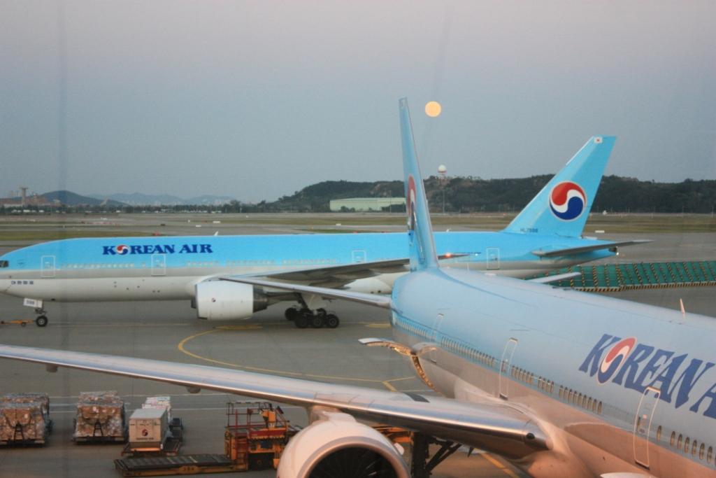 Moon over Incheon