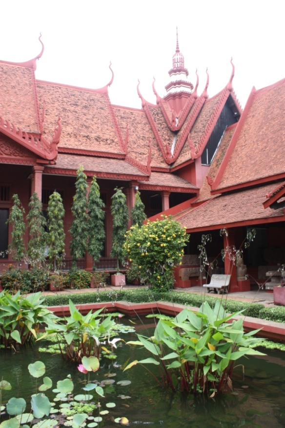 In the courtyard of the National Museum of Cambodia