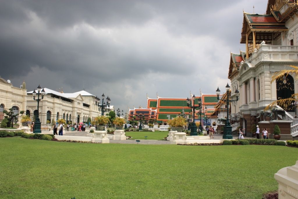 On the grounds of the Grand Palace