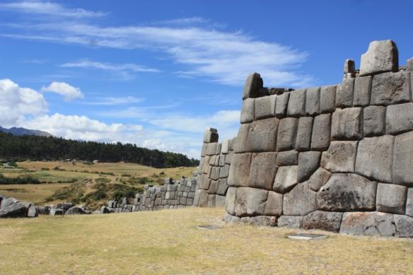 This Incan site overlooks Cusco, Peru.