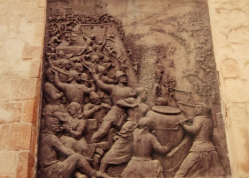 Bas relief of Siege of Eger