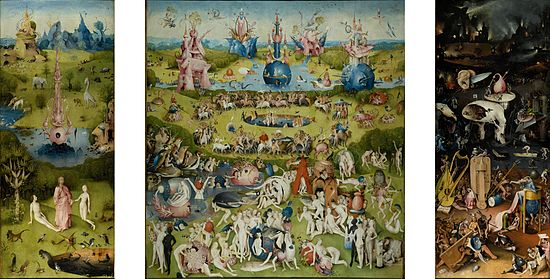 The Garden of Earthly Delights by Hieronymus Bosch, 1510
