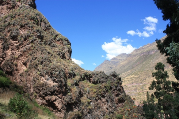 The Urubamba River Valley lies unseen between these ridges