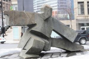 Tai Chi Sculpture; Taken in Montreal
