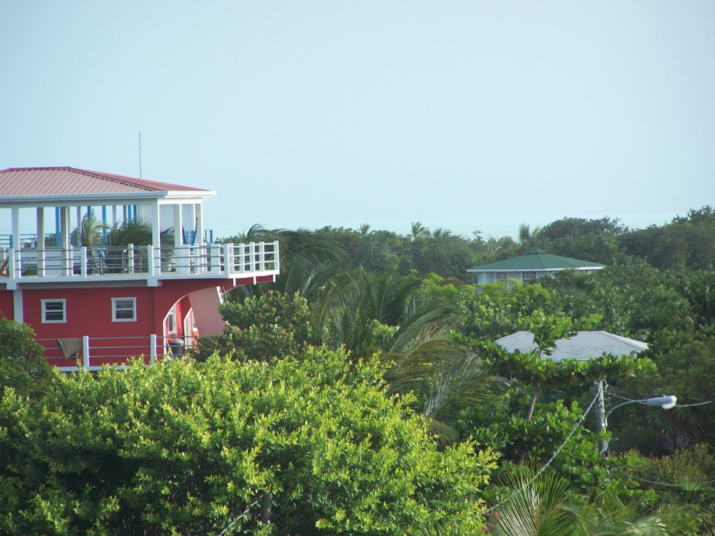 Taken from the rooftop gazebo at a B&B.