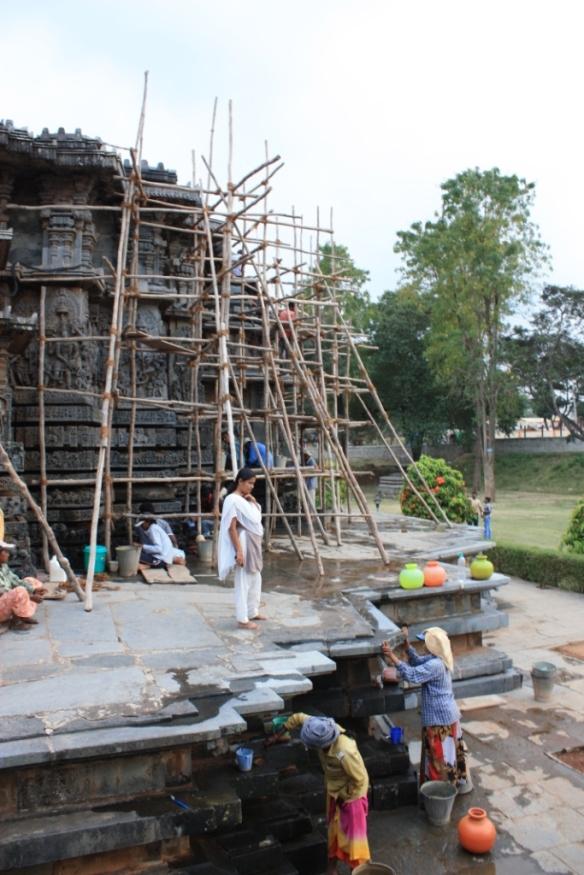 Taken November 23 at Hoysaleshwara Temple in Halebidu