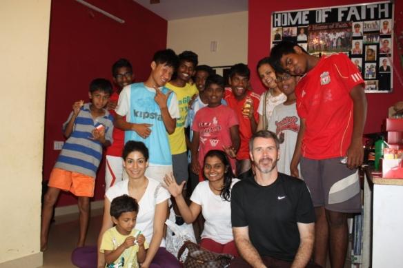 Seva teaching at an orphanage