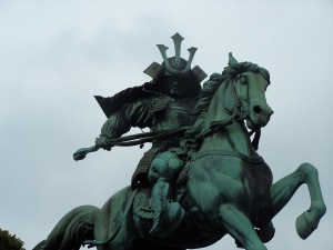 Statue of Kusunoki Masashige, famous Royalist supporter, taken outside the Imperial Palace in Tokyo in 2008.