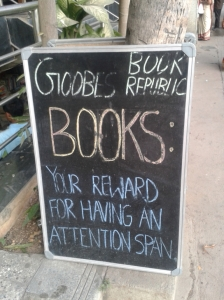 From Goobe's Books, one of my favorite local bookstores in Bangalore