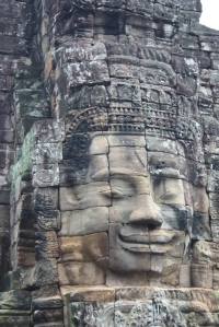 Yoga face as seen on the Bayon at Angkor