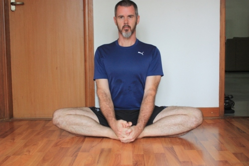 Badhakonasana (often called the butterfly stretch): Work on getting those knees down