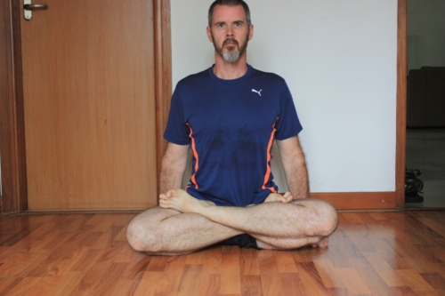 Padmasana (lotus): If you meditate in padmasana, you probably already have the range of motion necessary. Note: if padmasana hurts your   knees, you need to go back to hip openers and discontinue the practice.