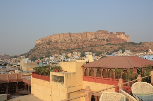Taken on November 29, 2015 from the rooftop of Pal Haveli in Jodhpur