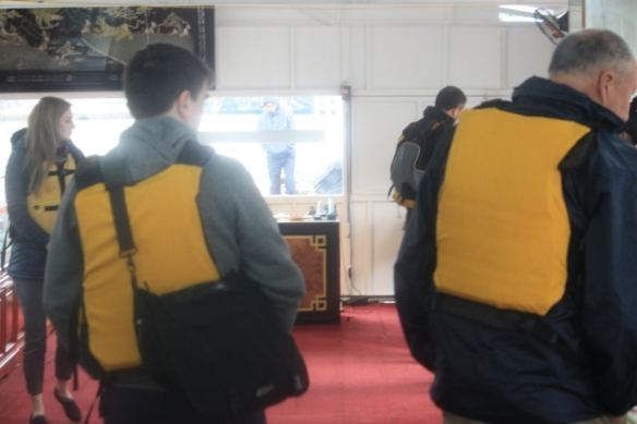Have you ever been in a jewelry store in which everybody was wearing a life-jacket?