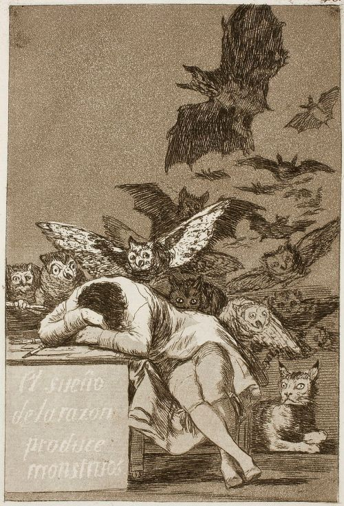"""""""The Sleep of Reason Produces Monsters"""" by Francisco Goya"""