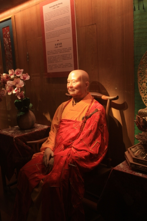 There is a wax gallery of modern Buddhists of note from across Asia