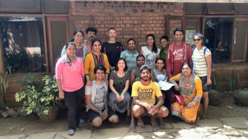 The RYT300 Class at Fireflies Ashram to learn Shatkarma
