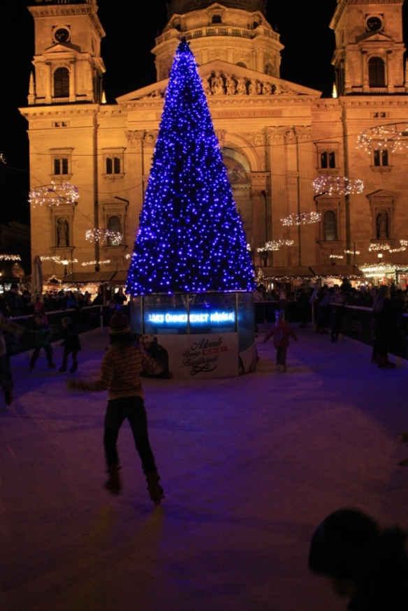 Taken in December of 2014 in Budapest, in front of St. Stephen's Basilica (i.e.Szent István-bazilika)
