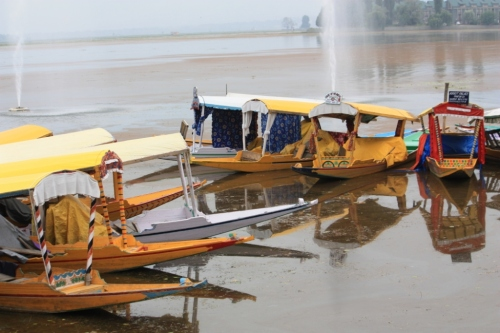 Shikara on Dal Lake